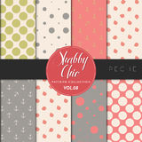 Shabby Chic Pattern Collection - Peche Stock Photo