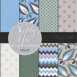 Shabby Chic Pattern Collection - Toulpa Stock Photography