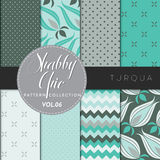 Shabby Chic Pattern Collection - Turqua Stock Image