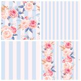 Shabby chic patterns stock illustration