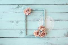 Shabby chic photo frame Stock Photo