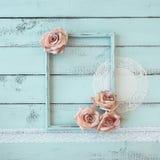 Shabby chic photo frame Royalty Free Stock Image