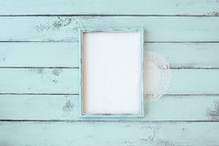 Shabby chic photo frame Royalty Free Stock Images