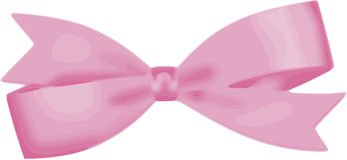 Shabby chic pink bow vector Stock Photos