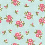 Shabby chic polka dot flora vintage pattern Royalty Free Stock Photography