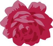 Shabby chic red rose vector Royalty Free Stock Images
