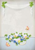 Shabby chic romantic flower vintage background Stock Image