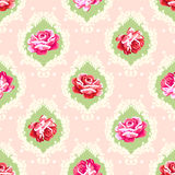 Shabby chic rose damask pattern. Royalty Free Stock Photography