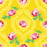 Shabby chic rose damask pattern Royalty Free Stock Image
