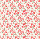 Shabby chic rose pattern Stock Image