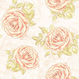 Shabby chic rose pattern Stock Photography
