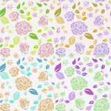 Shabby Chic Rose Pattern and seamless background. Royalty Free Stock Photography