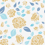 Shabby Chic Rose Pattern and seamless background. Royalty Free Stock Images