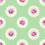 Shabby chic rose  pattern Stock Photos
