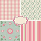 Shabby Chic. Rose Patterns and seamless backgrounds. Ideal for printing onto fabric and paper or scrap booking vector illustration