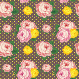 Shabby Chic seamless pattern. Vector vintage roses Royalty Free Stock Image