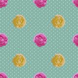 Shabby Chic seamless pattern. Vector vintage roses. Vector vintage roses. Seamless flower pattern Stock Photography