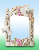 Shabby-chic  Souvenir foto frame Stock Photos