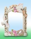 Shabby-chic  Souvenir foto frame Stock Photos