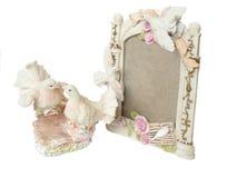 Shabby-chic  Souvenir foto frame Royalty Free Stock Photo