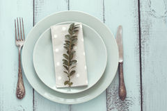 Shabby chic table setting Royalty Free Stock Image