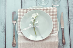 Shabby chic table setting Royalty Free Stock Images