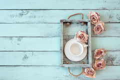 Shabby chic tray stock images