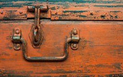 Shabby chic trunk chest detail royalty free stock images