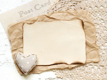Shabby chic Valentines day background Royalty Free Stock Photo