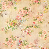 Shabby Chic Vintage Antique Rose Floral Wallpaper. Decorative floral wallpaper background in light colors with textured surface Royalty Free Stock Photos