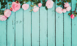 Free Shabby Chic Vintage Floral Background With Roses. Royalty Free Stock Photography - 95325637