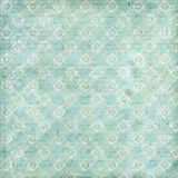 Shabby Chic vintage floral grungy background. With checks Stock Image