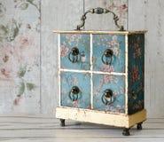 Shabby Chic Vintage Jewelry Box Royalty Free Stock Photos