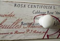 Shabby chic white button Stock Photo