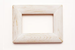 Shabby chic wooden frame. Shabby chic empty white toned wooden frame Royalty Free Stock Photography