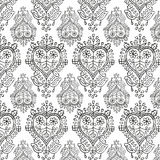 Shabby chic wooden heart repeat pattern Royalty Free Stock Photo