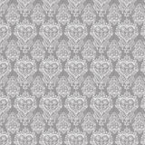 Shabby chic wooden heart repeat pattern Stock Photography