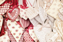 Shabby chik hearts Royalty Free Stock Image