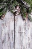 Shabby Christmas Border Stock Photo