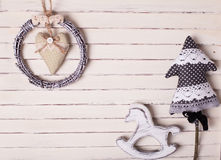 Shabby Christmas toys Stock Photography