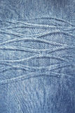 Shabby cloth with relief. Denim Stock Photo