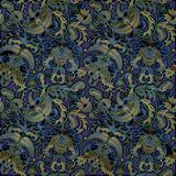 Shabby colored floral pattern on  dark background. Shabby colored floral pattern on  dark blue  background Stock Image