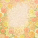 Shabby floral ornament frame Stock Photography