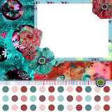 Shabby Floral Photo Frame Stock Photo