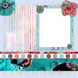 Shabby Floral Photo Frame Stock Photos