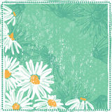 Shabby fresh vintage floral card Stock Photo