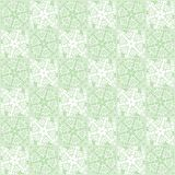 Shabby Geometric Flowers Pattern. Wall seamless vector illustration