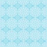 Shabby Geometric Flowers Pattern. Wall seamless Royalty Free Stock Photos