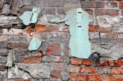 Shabby Grungy Red Brick Wall Stock Photos