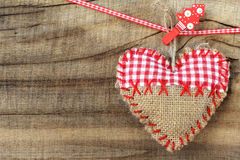 Shabby heart ornament Stock Photo